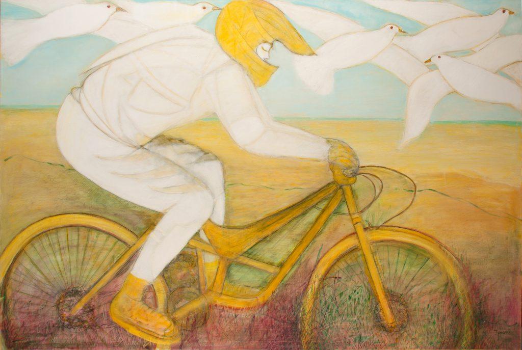 Ragazzo in Bicicletta con Uccelli (2017)